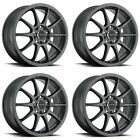 4x Vision 16 425 Bane Wheels Gunmetal 16x7 5x112 5x45 5x1143 +48mm 59