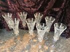 Vintage Cut Crystal Champagne Flutes Set of 8 Perfect Condition