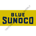 Blue Sunoco Flat Ad Glass (AG401)