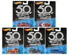 2018 Hot Wheels 50th Anniversary Favorites Set of 5 Cars Datsun Ford Chevy VW