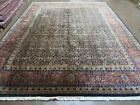 8' X 10' Vintage Hand Made Indo PERSIAN MAHAL Tabriz Fish Design Wool Rug Carpet