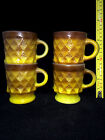 Vintage Fire King Kimberly Diamond  Breakfast Mug Yellow Brown Sold Separately