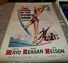 1952 MOVIE POSTER SHES WORKING HER WAY THROUGH COLLEGE VIRGINIA MAYO RON REAGAN