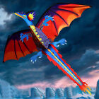 3D Dragon Kite Kids Toy Fun Outdoor Flying Activity Game Children With Tail