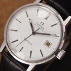 Omega DeVille White Dial Automatic Wrist Watch 35 mm Black Strap