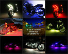 18 Color 5050 SMD RGB Led America  6pc Motorcycle Led Flexible Neon Strip Kit