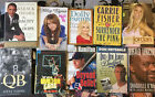 TEN SIGNED BOOKS BARACK OBAMA CARRIE FISHER DOLLY PARTON DON DRYSDALE SHAQ +MORE