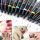 24 Colors Nail Art Pen Painting Design Tool Drawing For UV Gel Polish Manicure