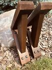 Two Decorative Rustic Cedar Wood Corbel Brackets 16 Inches