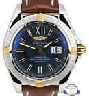 Breitling Windrider Cockpit 41mm Blue Big Date 18K Two Tone Steel B49350 Watch