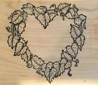 Stamp Oasis Wood Mounted Rubber Stamp Ivy Heart