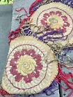 Pair of Hungarian Embroidered Matyo Doilies 7