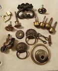Large lot of assorted vintage drawer pulls hardware craft repurpose decor
