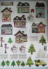 Winter Snow Chipboard Punchouts 28 Scrapbooking Sparkly Snowman Winter Lot of 6