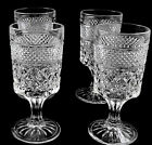 4 Wexford Glass Goblets Wine Water Claret 8 oz Anchor Hocking