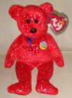 2002 Ty Beanie Baby 11th Generation Decade red bear #4585 retired MWT