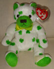 2001 Ty Beanie Baby 9th Generation CLOVER bear #4503 retired MWT