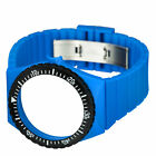 Fortis Colors C 17 24mm Blue Silicone Watch Strap