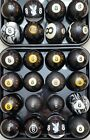 8 Pool Ball FROM 10 SHIPPED1500 VINTAGE ANTIQUE BILLIARD BALLS Clay Aramith