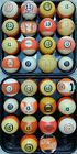 Vintage 13 Ball Pool Ball Antique Billiard Ball Many Sizes  Styles SHIPS FREE