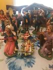 FONTANINI DEPOSE ITALY 22 PC lighted NATIVITY RELIGIOUS CHRISTMAS SCENE SET