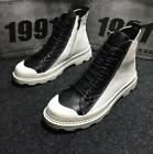 Men High Top Hidden Heel Strappy Zipper Sheos Colorblock Casual Sport Sneaker Sb
