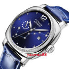 39mm Parnis blue dial sapphire glass date Miyota automatic women girls watch P02