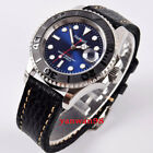 Parnis 40mm blue dial ceramic bezel polished sapphire Miyota automatic watch 01