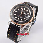 Parnis 40mm black numeral Ceramic bezel sapphire crystal Miyota automtic watch