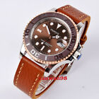 Parnis 40mm brown dial sapphire crystal lumen 21jewels Miyota automatic watch 04