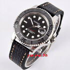 Parnis 40mm black Ceramic bezel sapphire crystal Miyota automatic date watch P02