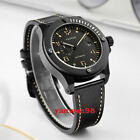 43mm Parnis Black dial PVD case yellow marks 24 hour Miyota ate dautomatic watch