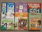 Lot of 6 SCRAPBOOKING Idea Page Layouts Techniques BOOKS CK MM 1000s if Ideas