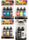 Tim Holtz Adirondack Alcohol Inks by Ranger Lot 4 packages Total 11 Colors