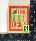 Inkadinkado Rubber Stamp Very Merry Christmas Message Holiday Sentiments 727