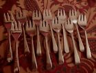 Silverplate ice Cream Condiment Forks  set of 12