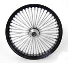 23 x35 BLACK FRONT WHEEL MAMMOTH 48 FAT SPOKES DUAL DISC 25MM ABS FIT HARLEY
