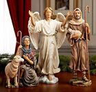 Nativity Shepherds  Angel from Three Kings Gifts 14 Set Excellent Condition