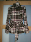 Geana Collection womens check coat size 44 UK16