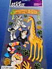 OO8 Sticko Welcome To The Zoo Scrapbook Stickers Flat Sticker Sheet