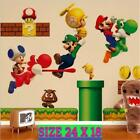 Super MARIO Wall Stickers Decals Removable Kids Boys BedRoom Nursery Art Decor