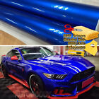 Premium Super Gloss Metallic Blue Vinyl Film Wrap Sticker Decal Air Bubble Free