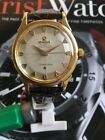Vintage Omega Constellation Watch Pie Pan 18K Gold Automatic 505 automatic