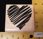 Embossing Arts Rubber Stamp LARGE HEART Love Romance Valentine
