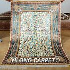 Yilong 4'x6' Silk Persian Rugs Handmade Tree Of Life Carpets Hank Knotted 0140