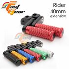 CNC 40mm Adjustable Front Foot Pegs For Buell XB9S Lightning 2003-2007