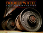 ANTIQUE INDUSTRIAL CASTERS, Vtg Cast Iron Metal Factory Cart Coffee Table Wheels