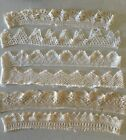 Antique Linen HAND CROCHET Pillow Case TRIMS 32-38