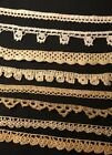 Eight Remnants, Samles of Great Antique Crochet Laces, Trims, Edgings, Inserts
