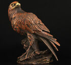 COLLECTIBLE AMAZING CHINESE COPPER HANDWORK CARVED EAGLE STATUE